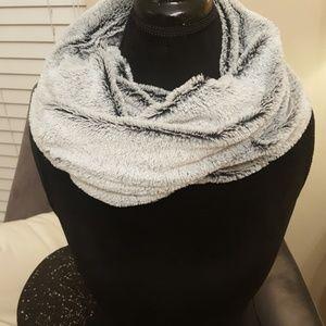 Faux Fur Gray Wrap or Scarf